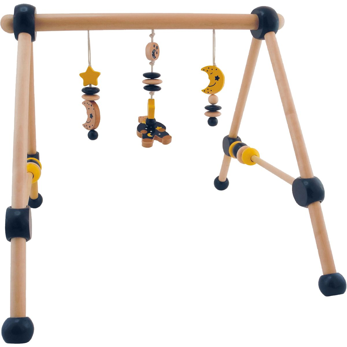 holzgym spieltrapez bunt tiere spielbogen spieltrainer. Black Bedroom Furniture Sets. Home Design Ideas