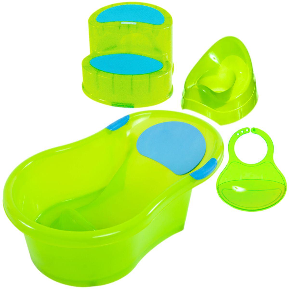 4in1 baby kind starter set badewanne l tzchen kindertopf kinderschemel ebay. Black Bedroom Furniture Sets. Home Design Ideas