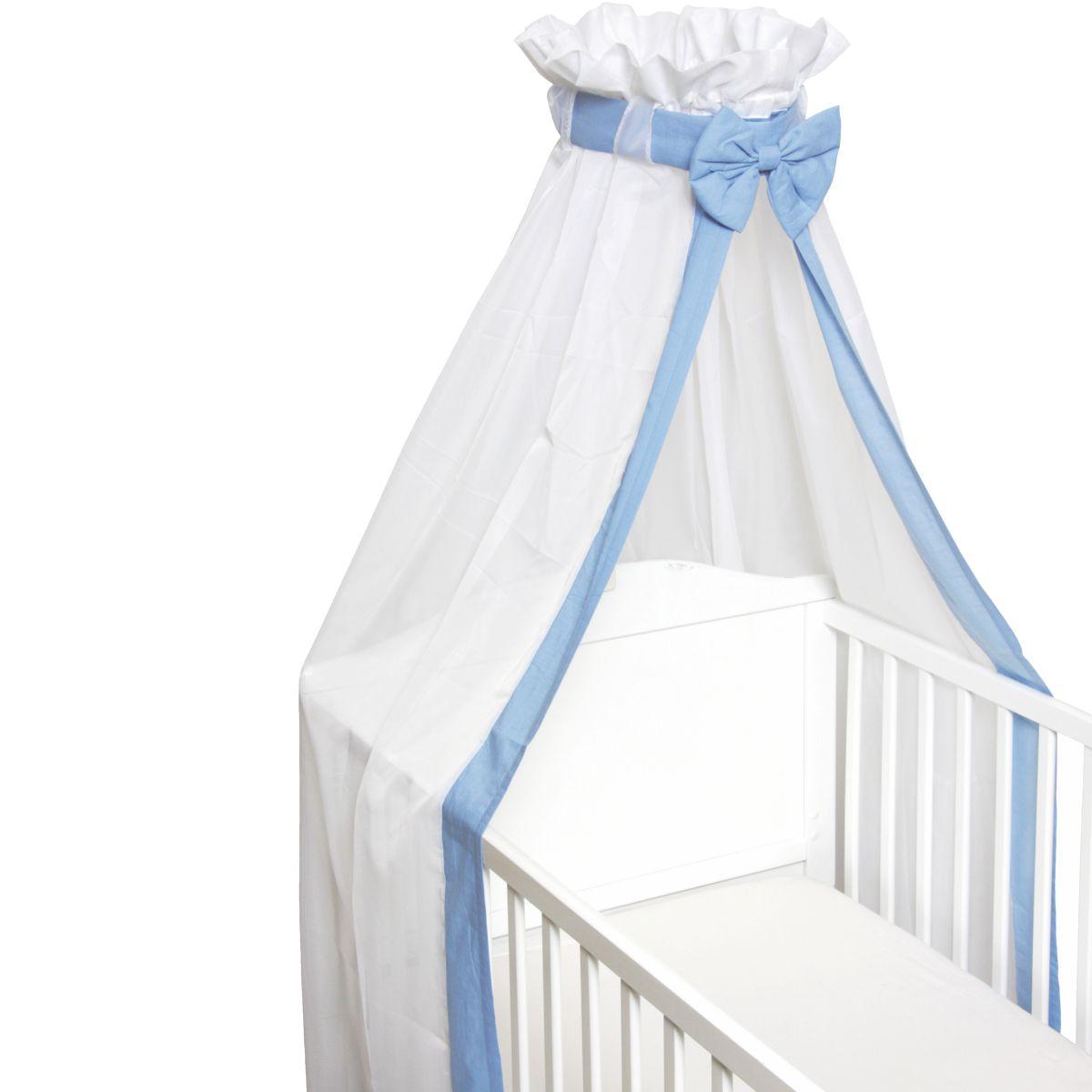 babybett schleier betthimmel moskitonetz baldachin baby bett dach himmel ebay. Black Bedroom Furniture Sets. Home Design Ideas