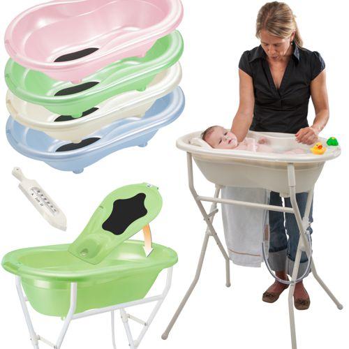 premium baby badewanne set 5 tlg mit st nder babywanne baden wanne rotho neu ebay. Black Bedroom Furniture Sets. Home Design Ideas