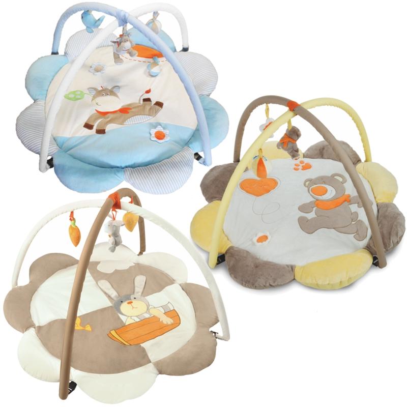 krabbeldecke erlebnisdecke spieldecke gym babydecke decke mit spielbogen 95cm ebay. Black Bedroom Furniture Sets. Home Design Ideas