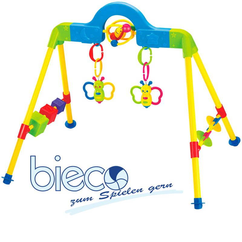 bieco spieltrapez spielcenter spielbogen spieltrainer baby gym musik licht ebay. Black Bedroom Furniture Sets. Home Design Ideas