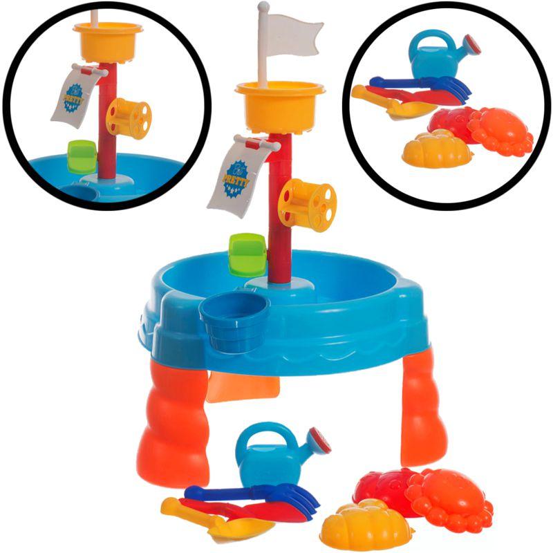 sand wasser spieltisch set sandkasten wasser tisch kind buddelkasten sandkiste ebay. Black Bedroom Furniture Sets. Home Design Ideas