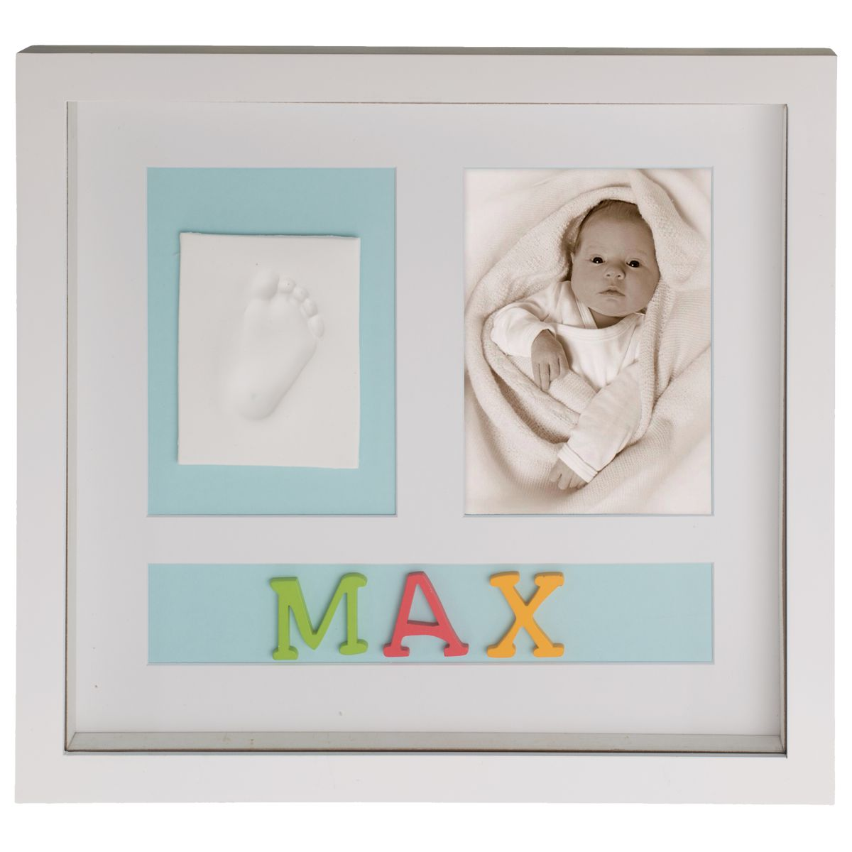 Baby Abdruck mit Bilderrahmen SET Gipsabdruck Kind Hand Fuß Abdruck ...