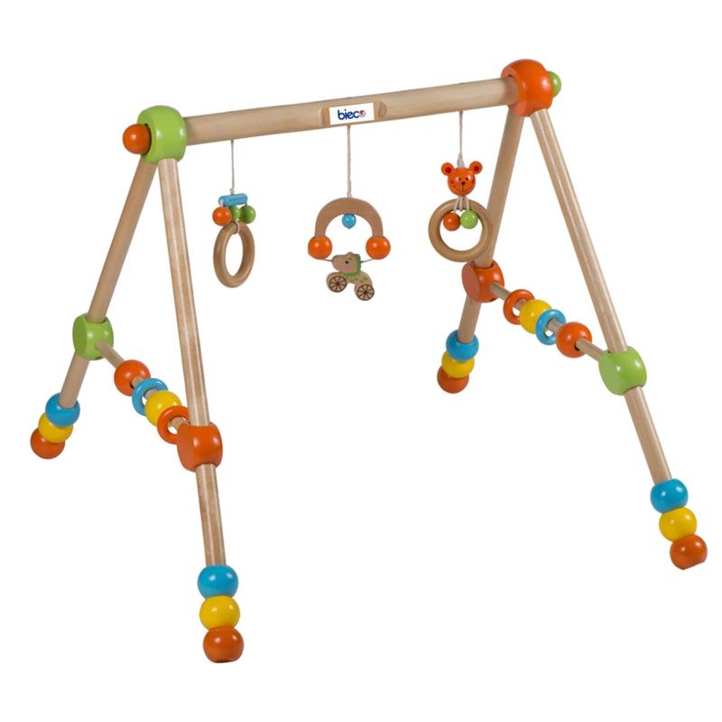 BIECO-Spieltrapez-Spielcenter-Spielbogen-Spieltrainer-Baby-Gym-Spielreck-Trapez