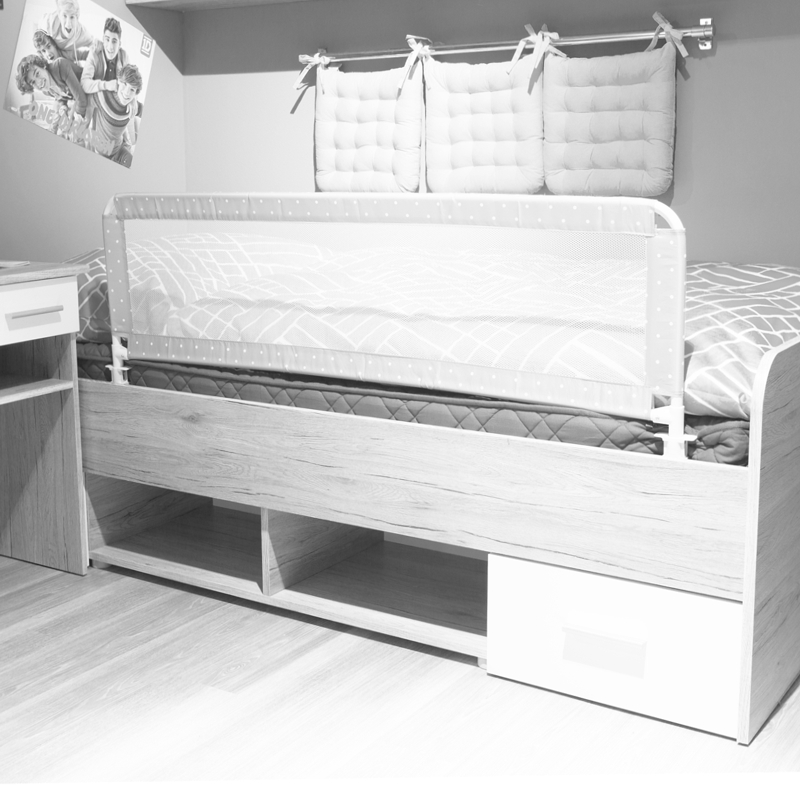 bettschutzgitter 135x50cm kinder bettgitter gitter f r boxspring standard bett ebay. Black Bedroom Furniture Sets. Home Design Ideas
