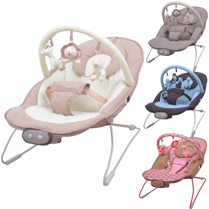 Babyschaukel f/ür Kinder bis 18 kg geignet Babywippe rosa mit Vibration und verschiedenen Melodien zur Auswahl