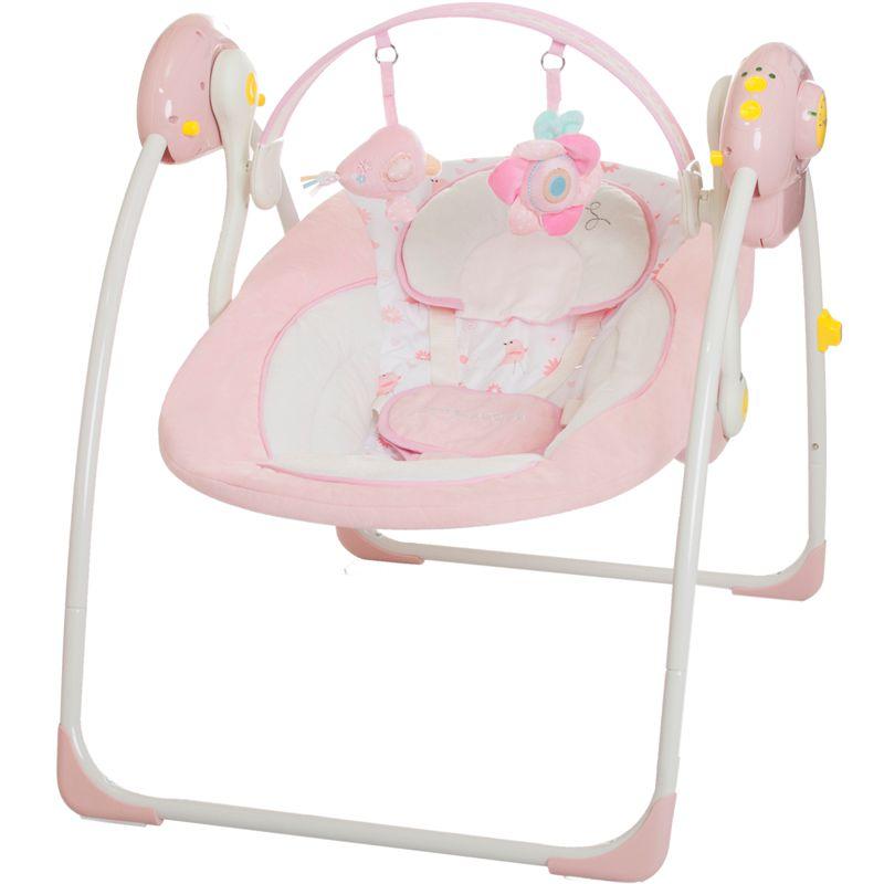 babyschaukel vollautomatisch 230v baby schaukel wippe wiege liege mit spielbogen ebay. Black Bedroom Furniture Sets. Home Design Ideas