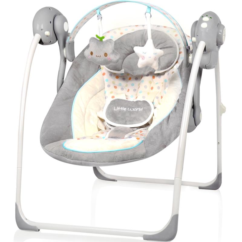 Spielbogen Babyschaukel vollautomatisch 230V Baby Schaukel Wippe Wiege Liege