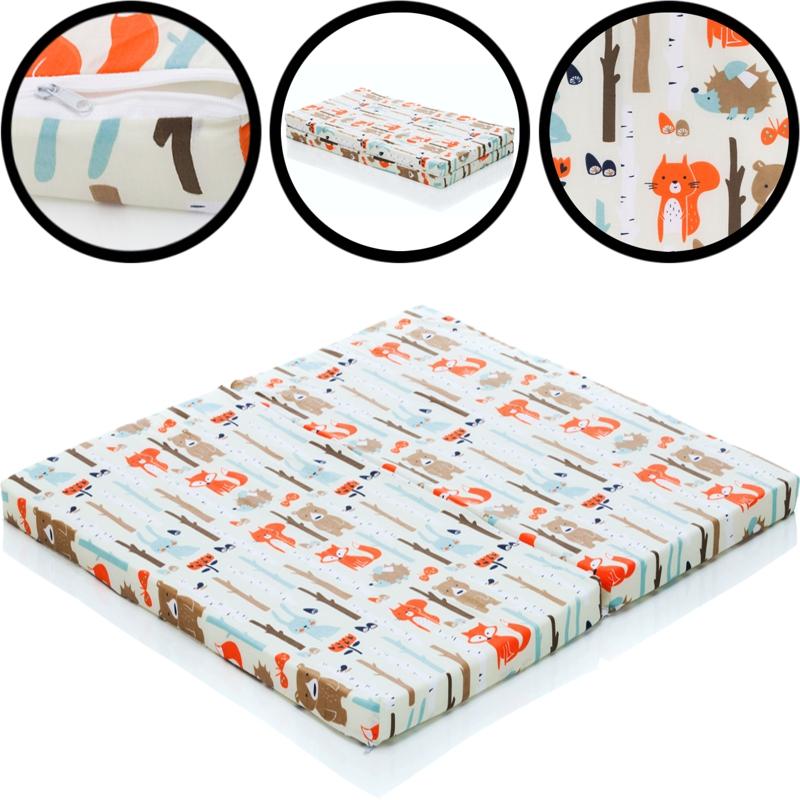 matratze waldtiere f r laufstall laufgitter spielstall auflage einlage kind baby ebay. Black Bedroom Furniture Sets. Home Design Ideas
