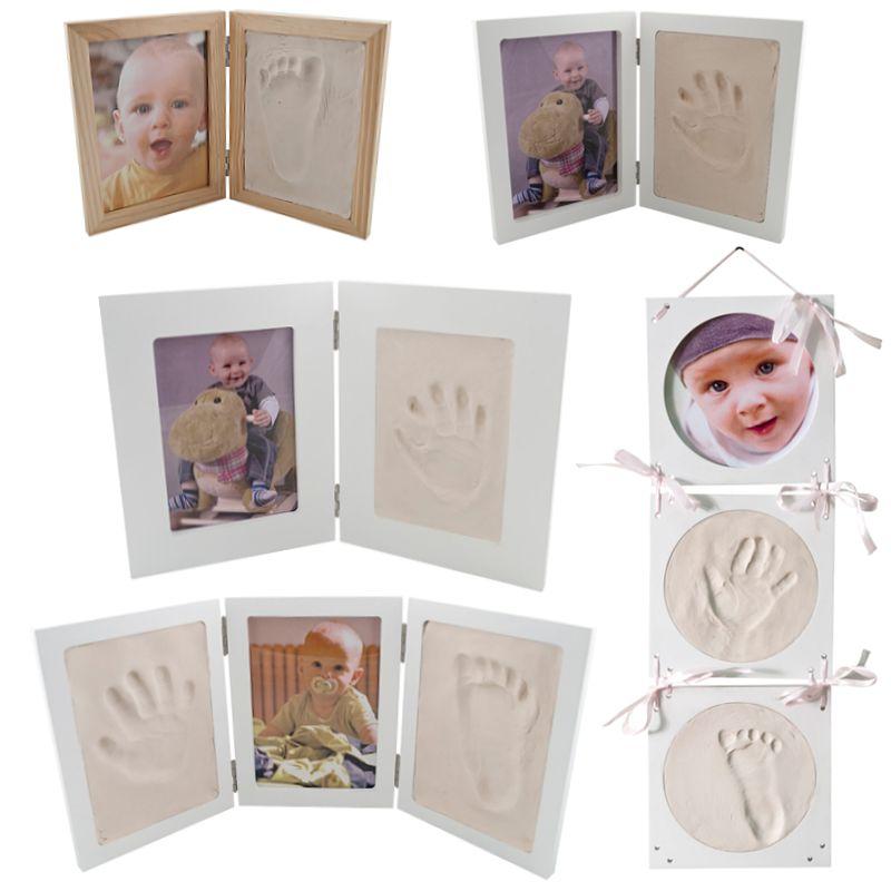 Bilderrahmen Gipsabdruck SET Abdruckset Handabdruck Fußabdruck Baby ...